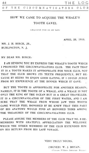 Gavel letter