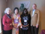 Betsy Ruderfer, Mica Dumas, Harmone Kobanghe and Jim Whalen - Japan luncheon