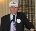 International President Peter Mosse showing off the new Club hats available for purchase