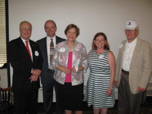 Washington DC Chapter members President Samuel Watson, Kip Knudson, Ellen Parke, Jennifer Teague and Ray Olson