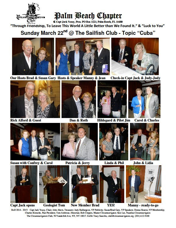 Palm Beach Chapter gathering at The Sailfish Club