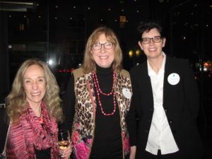 C. Suzanne Frye, Secretary and Program Chair Sue Murphy and guest Justine Kirby,