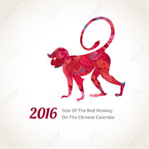 Monkey symbol of 2016 on the Chinese calendar.