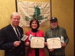 President Watson presented membership certificates to Rhea Schwartz and Paul Wolf