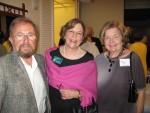 C. Jim Lungo, President Ellen Parke and Kay Lungo
