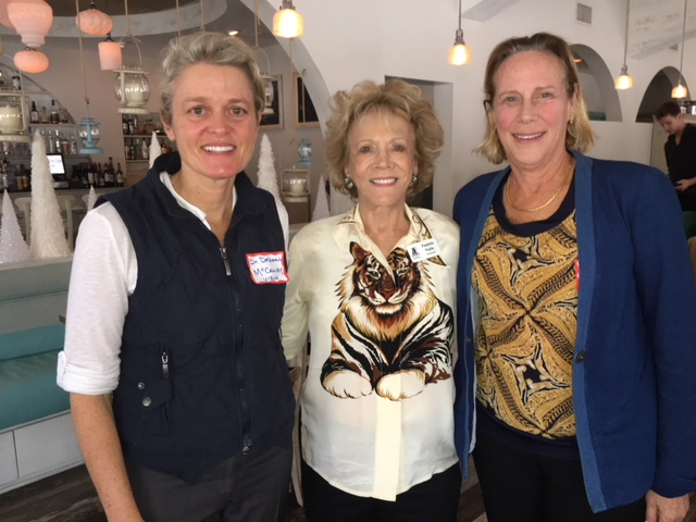 Deborah McCauley, DVM, Palm Beach Chapter Co-President Paulette Cooper Noble, and Palm Beach Chapter Programming Chair Victoria Donaldson
