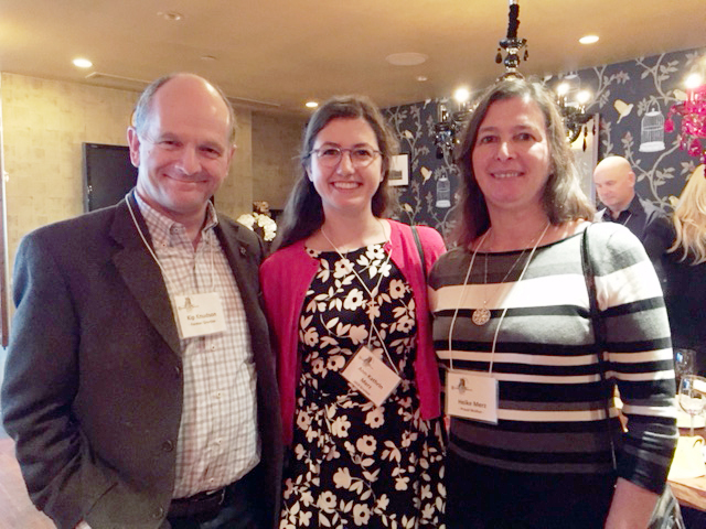 Chapter President Kip Knudson, Foundation Scholar Ann-Kathrin Merz and her mother, Heike Merz.