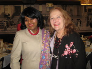 C. Christine Mosse with Past President Esther Dyer