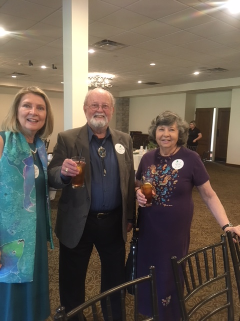 Desert Chapter President Linda Gruber with C. Bob Burnett of the Washington DC Chapter and his friend Marilynn Pittman.