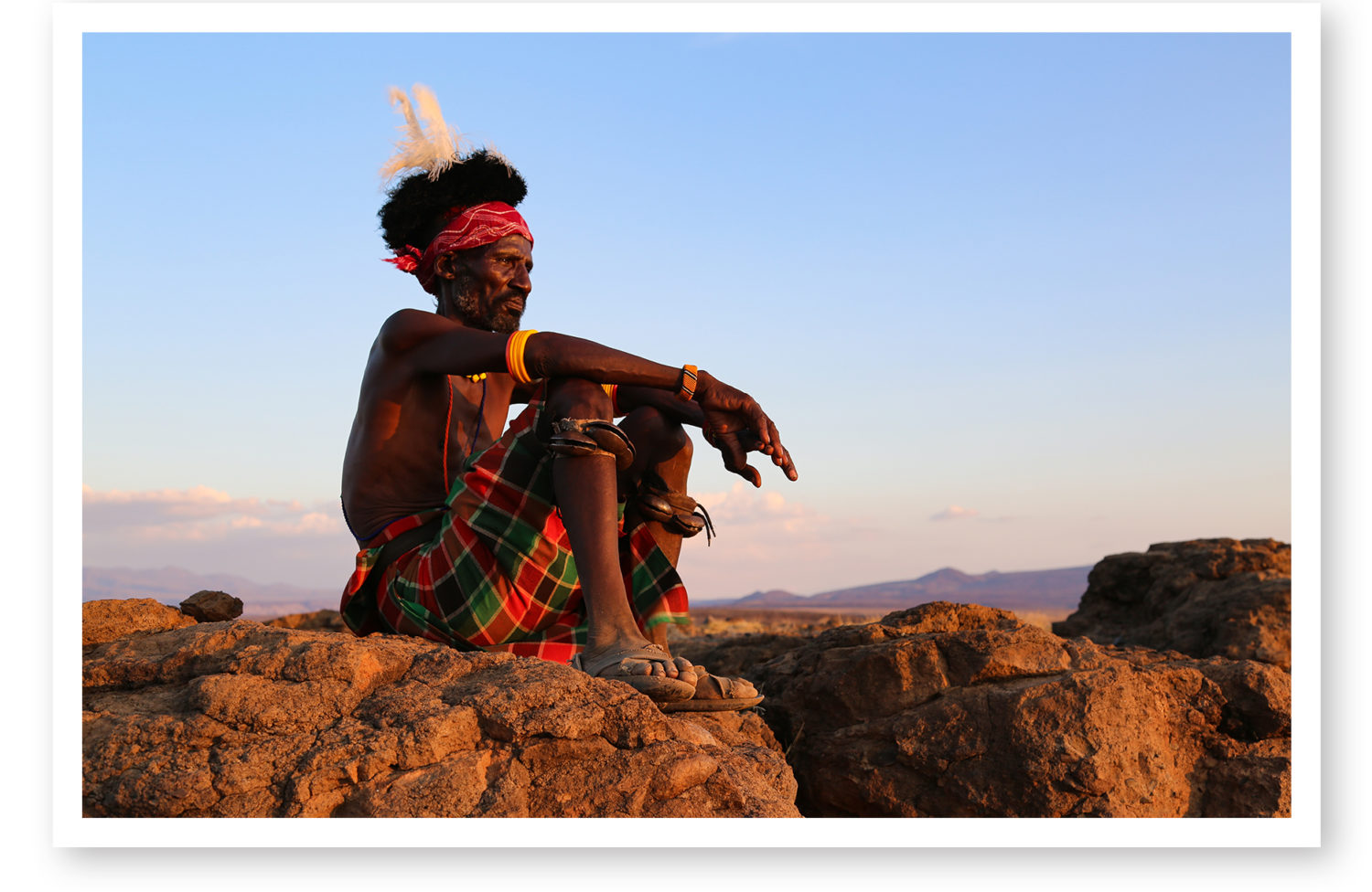 Circum Lisa Brighton, Michigan Chapter, caught this pensive shot of a tribesman in Kenya. More of Lisa's spectacular tribal photos will run in the next issue of The Log.