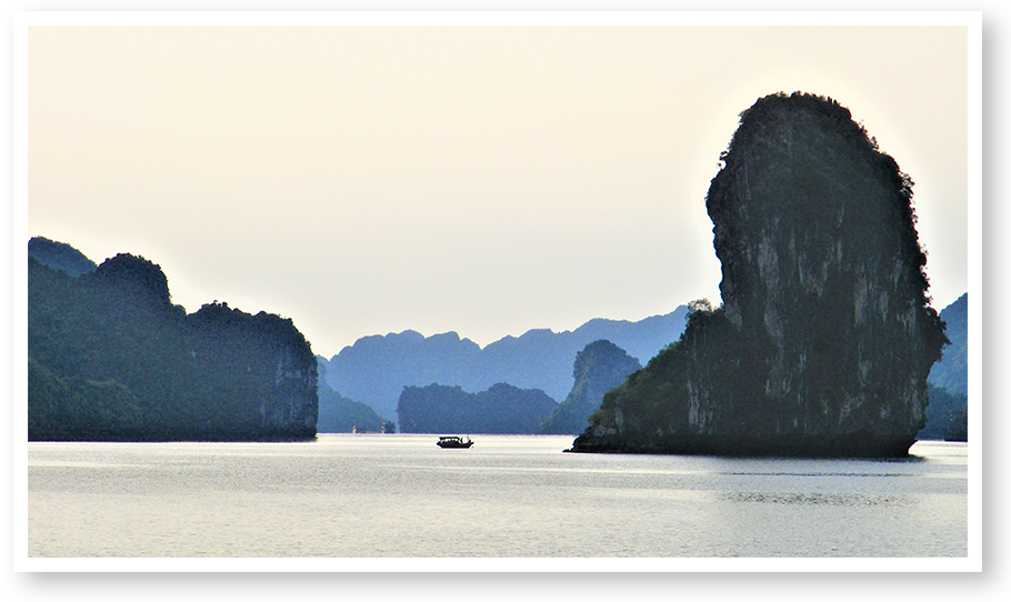 Circumnavigator Sandy Schopbach, Michigan Chapter, took this shot at Ha Long Bay in Vietnam.